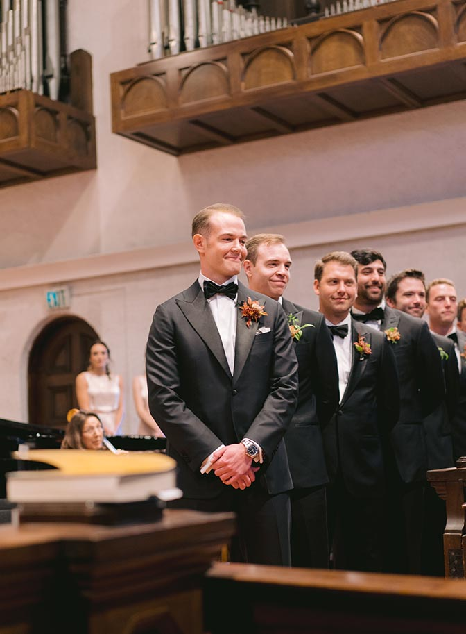 Church wedding Rancho Santa Fe groom